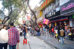 Shenzhen, China: Xixiang commercial pedestrian street landscape Stock Photo