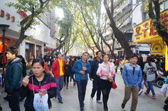 Shenzhen, China: Xixiang commercial pedestrian street landscape Royalty Free Stock Images