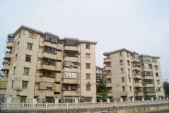 Shenzhen, China: Xixiang River and buildings Stock Photos