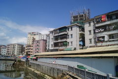 Shenzhen, China: Xixiang River and old building Stock Photo