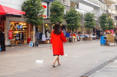 Shenzhen, China: young women on the streets Stock Image