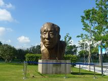 Shenzhen, China: Yuan Geng-standbeeldtribunes in Shenzhen-talentenpark Stock Fotografie