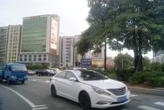 Shenzhen, China: zebra line traffic Stock Photos