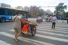 Shenzhen, China: zebra line traffic Royalty Free Stock Photography