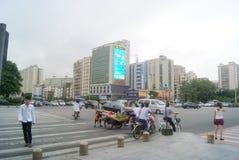 Shenzhen, China: zebra line traffic Royalty Free Stock Photo