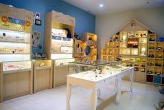 Shenzhen China: zilveren winkel Stock Fotografie