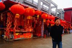 Shenzhen, China: zu den Frühlingsfest-Blumen-Markt treffen Lizenzfreies Stockbild