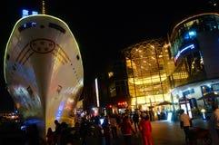 Shenzhen, china:Shekou Sea World Night Landscape Royalty Free Stock Photo