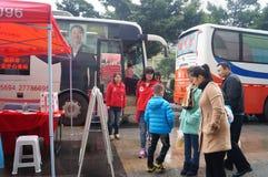 Shenzhen, Chine : activité de don du sang Photographie stock