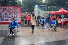 Shenzhen, Chine : activité de don du sang Image libre de droits