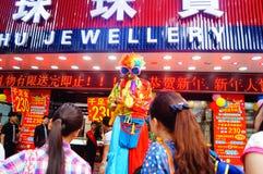 Shenzhen, Chine : activités promotionnelles de magasin de bijoux de jade Image stock