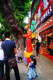 Shenzhen, Chine : activités promotionnelles de magasin de bijoux de jade Photographie stock