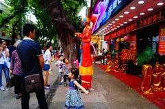 Shenzhen, Chine : activités promotionnelles de magasin de bijoux de jade Photo stock