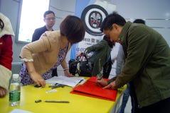 Shenzhen, Chine : activités sur place, signe d'enregistrement photographie stock