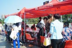 Shenzhen, Chine : activités volontaires de don du sang Photographie stock