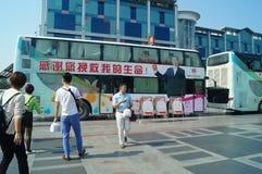 Shenzhen, Chine : activités volontaires de don du sang Photos libres de droits