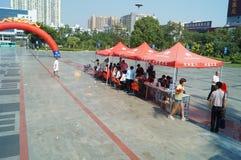 Shenzhen, Chine : activités volontaires de don du sang Image stock