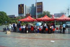 Shenzhen, Chine : activités volontaires de don du sang Photo libre de droits