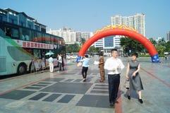 Shenzhen, Chine : activités volontaires de don du sang Photographie stock libre de droits
