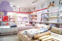 Shenzhen, Chine : boutique de literie Photographie stock