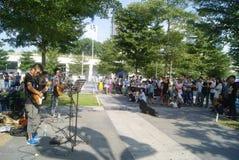 Shenzhen, Chine : Concert de musique de rue photographie stock