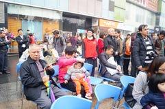 Shenzhen, Chine : exposition d'activité de don du sang Photos stock