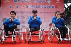 Shenzhen, Chine : exposition d'activité de don du sang Photo libre de droits