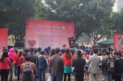 Shenzhen, Chine : exposition d'activité de don du sang Images stock
