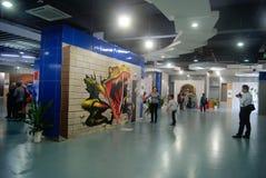 Shenzhen, Chine : exposition de la photo 3D Images libres de droits