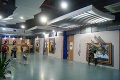 Shenzhen, Chine : exposition de la photo 3D Images stock