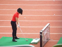 Shenzhen, Chine : golf de formation Photos libres de droits