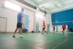 Shenzhen, Chine : jouer le badminton Photos libres de droits