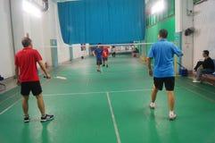 Shenzhen, Chine : jouer le badminton Photographie stock libre de droits