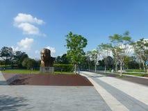 Shenzhen, Chine : La statue de Yuan Geng se tient en parc de talent de Shenzhen Images libres de droits