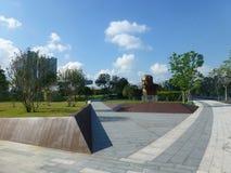 Shenzhen, Chine : La statue de Yuan Geng se tient en parc de talent de Shenzhen Photographie stock libre de droits
