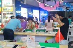 Shenzhen, Chine : Magasin d'électro-ménagers de Suning Image libre de droits