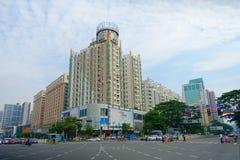 SHENZHEN, CHINE 11 MAI 2017 : Vue magnifique du centre ville ville de Shenzhen, Chine dans le secteur central Images libres de droits