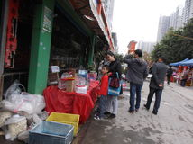 Shenzhen, Chine : marché d'animal familier Image stock