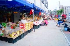 Shenzhen, Chine : marché en gros de fruit Image libre de droits
