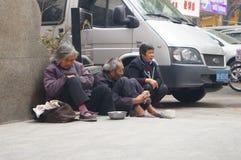 Shenzhen, Chine : mendiants Photos libres de droits