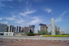 Shenzhen, Chine : Parc de plaza de bord de mer Images libres de droits