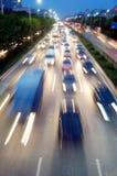 Shenzhen, Chine : Paysage de circulation routière de la nuit 107 Photos stock