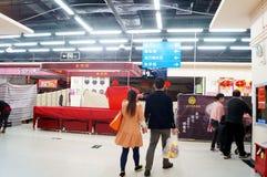 Shenzhen, Chine : Réveillon de la Saint Sylvestre, boutiques fermées tôt Images stock