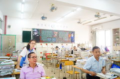 Shenzhen, Chine : salle de classe de collège Photo stock