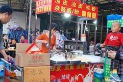 Shenzhen, Chine : stalles de casse-croûte Photographie stock libre de droits