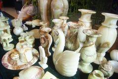 Shenzhen, Chine : ventes d'exposition de bijoux de jade Photo libre de droits
