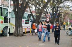 Shenzhen, Chine : Voiture de don du sang de rue Photographie stock libre de droits