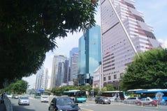 Shenzhen, Chinese: City Road Traffic Stock Image