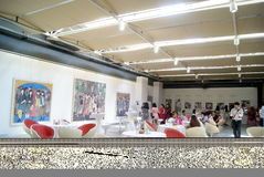 Shenzhen, Chinese: Painting Works Exhibition Royalty Free Stock Photography