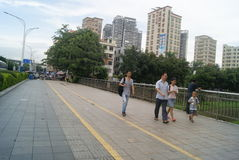 Shenzhen, Chinese: street landscape Stock Photo